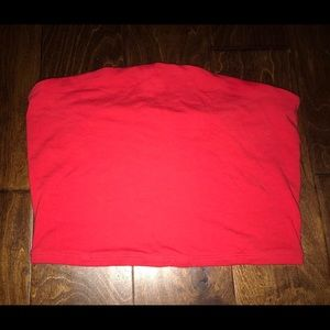 Garage - Cropped Red Tube Top